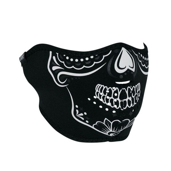 Neoprene Half Face Mask CALAVERA Glow-In-Dark - WNFM028HG