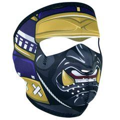 SAMURAI WNFM027 MASK Motorcycle Biker Ski Neoprene FULL Face Mask Reversible