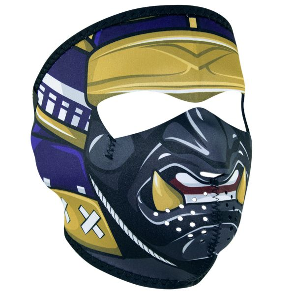 SAMURAI WNFM027 MASK Motorcycle Biker Ski Neoprene FULL Face Mask Reversible