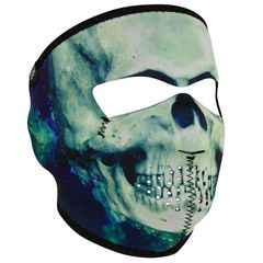 PAINT SKULL WNFM414 Motorcycle Biker Ski Neoprene FULL Face Mask Reversible
