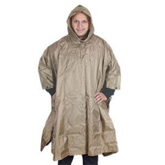 MILITARY STYLE RIPSTOP PONCHO - COYOTE