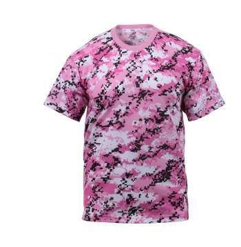 PINK & BLACK DIGITAL CAMO T-SHIRT