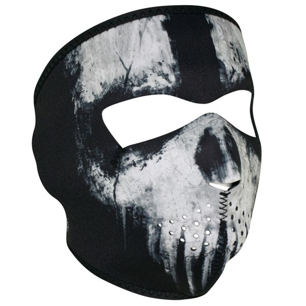 Neoprene Full Face Mask - SKULL GHOST- WNFM409