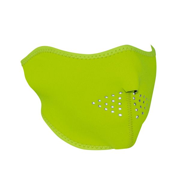 Neoprene Half Face Mask - High Visibility Lime - WNFM142LH