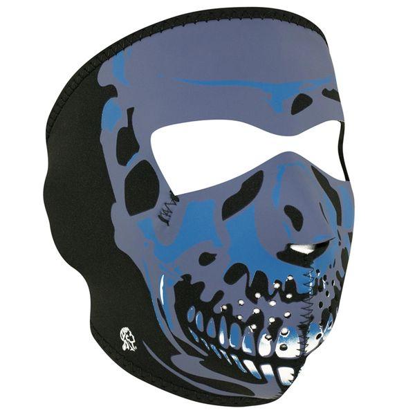Neoprene Full Face Mask | Blue Chrome Skull | WNFM024