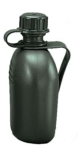 Genuine G.I. 3 Piece 1 Quart Canteen with Clip