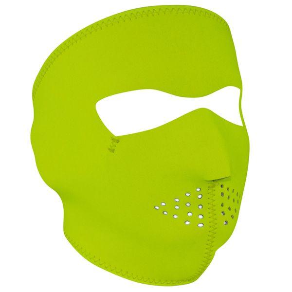 Neoprene Full Face Mask - High Visibility Lime - WNFM142L