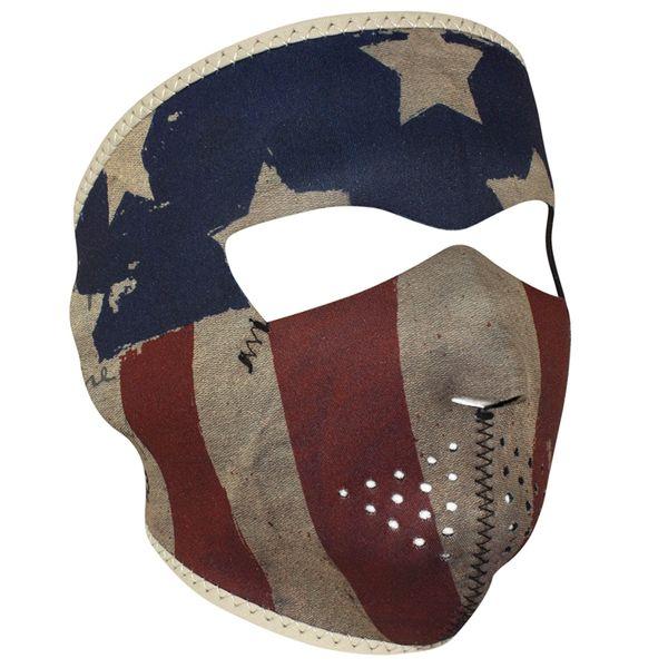 Neoprene Full Face Mask - Patriot Vintage Flag WNFM408