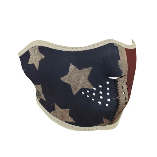 Neoprene Half Face Mask | Patriot Vintage Flag | WNFM408H