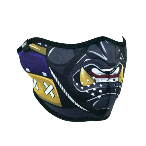 SAMURAI WNFM027H MASK Motorcycle Biker Ski Neoprene HALF Face Mask Reversible