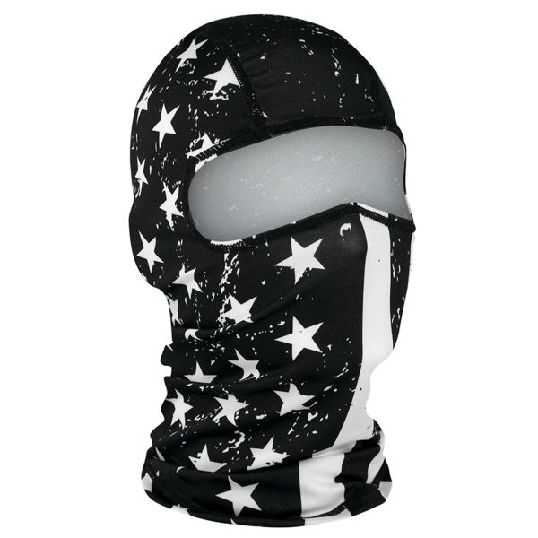 Polyester Balaclava | BLACK AND WHITE FLAG | WBP091