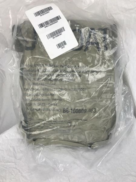Military Chemical Protective Overgarment Coat Large 8415-01-553-0037 New in Bag