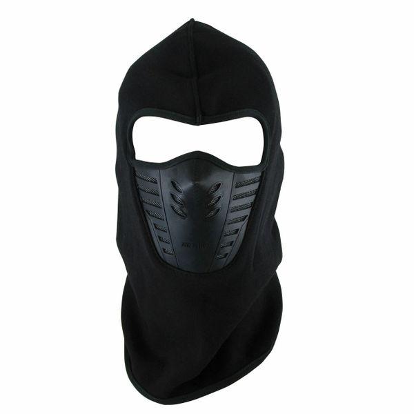 Windproof Fleece Balaclava Ski Mask | Black