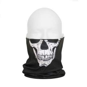 Multi-Use Neck Gaiter and Face Covering Tactical Wrap - Skull Print