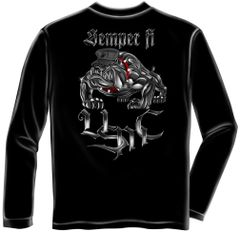 Long Sleeve Chrome dog Sempri Fi T-Shirt
