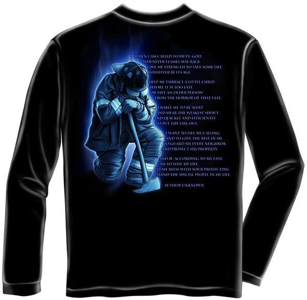 Long Sleeve FireMan's Prayer T-Shirt FF2011LS