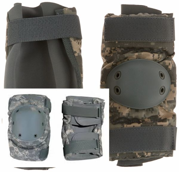 New US Military Tactical Knee & Elbow Pads Set, ACU Pattern, RFI Issue, Small