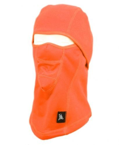 WINTER FACE COVER SPORTS MASK W/FRONT MESH & FUR LINING - SAFETY ORANGE