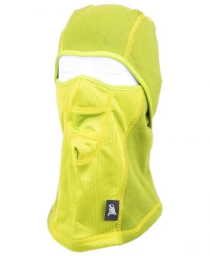 WINTER FACE COVER SPORTS MASK W/FRONT MESH & FUR LINING - NEON YELLOW