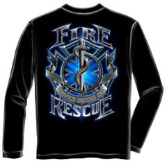 Long Sleeve Fire Rescue T-Shirt