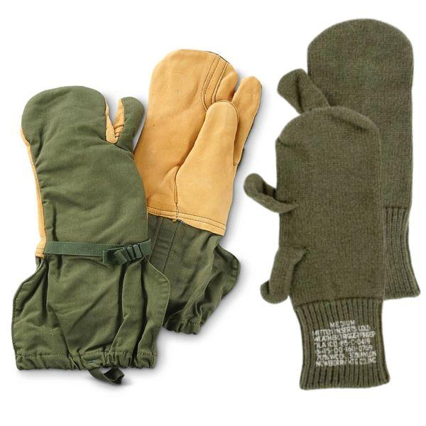 US Military Wool Trigger Finger Mitten Liners Medium 8415-00-160-0769 Free Ship