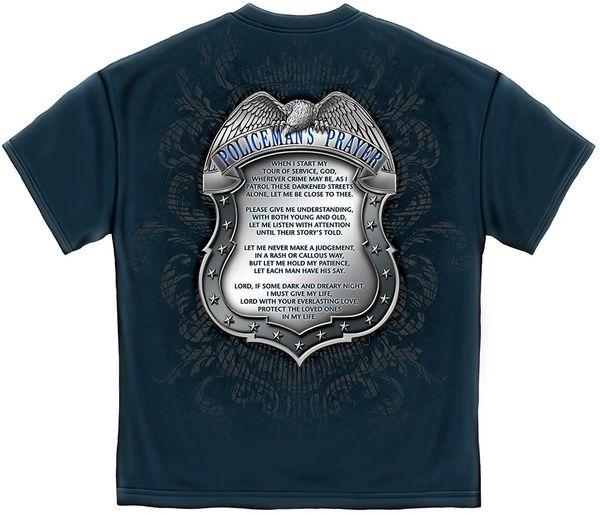 Policeman's Crome Badge With Policeman's Prayer T-Shirt