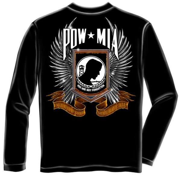 Long Sleeve POW Chrome Wings T-Shirt