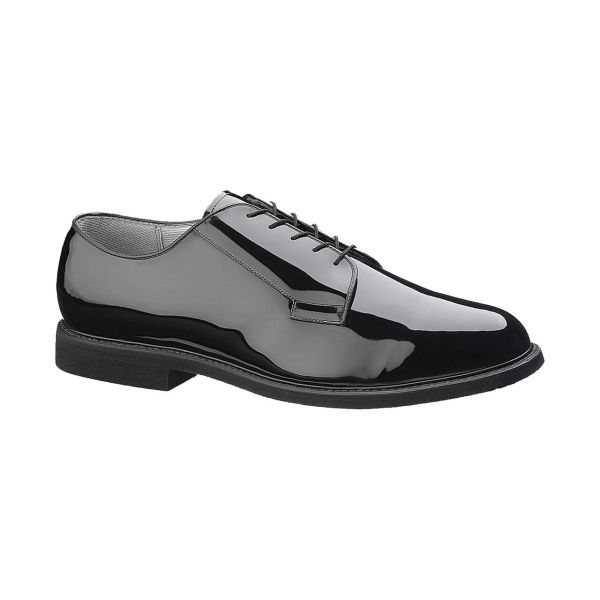 Bates E00007 Lites Men's Black High Gloss Oxford with Leather Sole