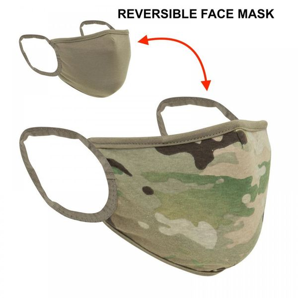 Rothco Reversible Reusable 3-Layer Face Mask - MultiCam / Coyote - 1249
