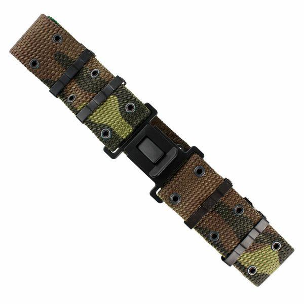 G.I. Type Nylon Pistol Belt - Classic Buckle - Woodland Camo   New