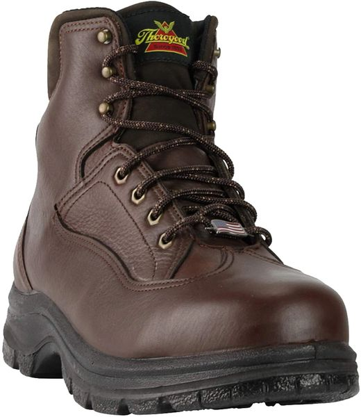 """THOROGOOD MEN'S """"SIGNATURE SERIES"""" 6 INCH BROWN WORK BOOTS 814-4961"""