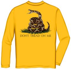 Long Sleeve Don't Tread on Me Golden Yellow