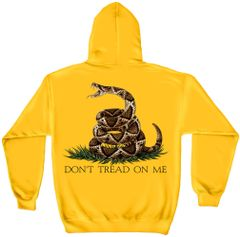 Hooded Sweatshirt | Don't Tread On Me YELLOW GOLD