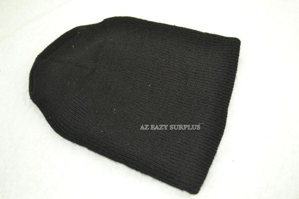 US GI Black Knit Wool Watch Cap | NEW