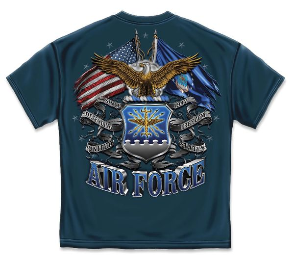 AIR FORCE T-SHIRT | DOUBLE FLAG AIR FORCE EAGLE | MM2150