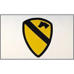 ARMY 1ST CAVALRY FLAG - WHITE (3ftx5ft)