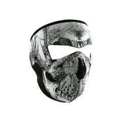 Neoprene Full Face Mask - Glow in the Dark Skull