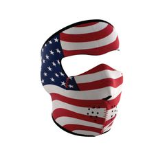 Neoprene Full Face Mask - USA Stars & Stripes