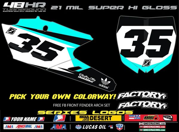 Yamaha Factory Backing Pre Printed Backgrounds Aquaman Series with up to 3 airbox logos