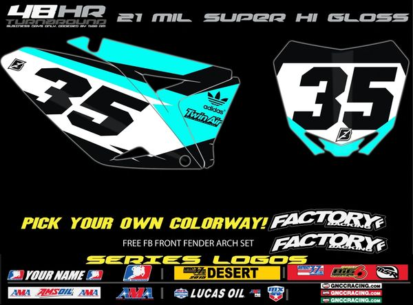 Suzuki Factory Backing Pre Printed Backgrounds Aquaman Series with Airbox logos