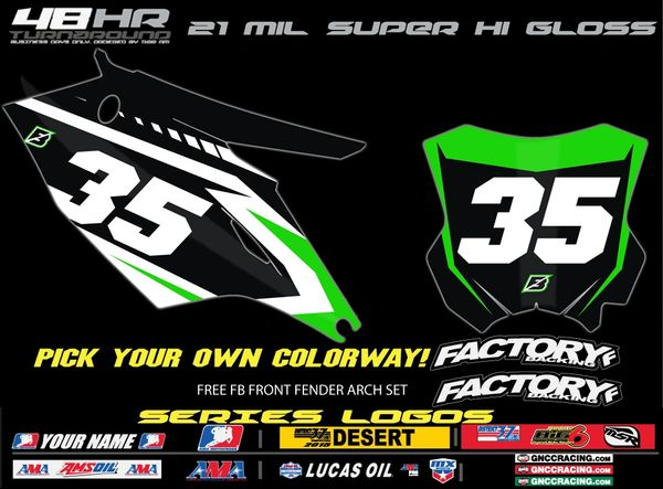 Kawasaki Blazed pre printed backgrounds Includes Air box if applies and 3 logos