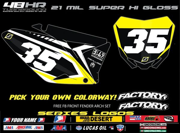 Suzuki Factory Backing Pre Printed Backgrounds Blazed Series with Airbox logos