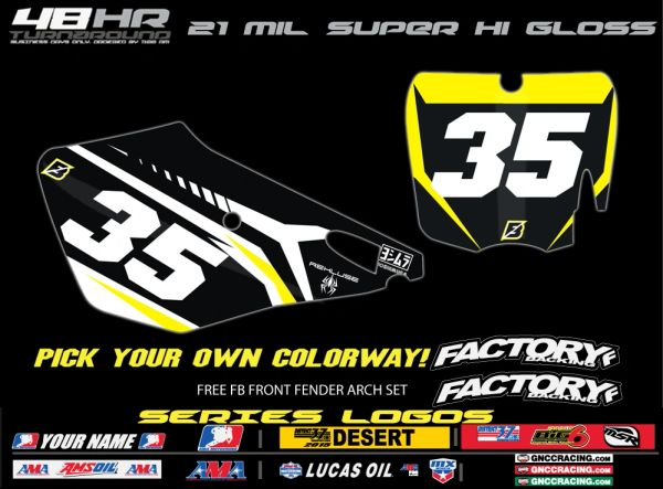 Cobra Factory Backing Pre Printed Backgrounds Blazed Series with 3 logos