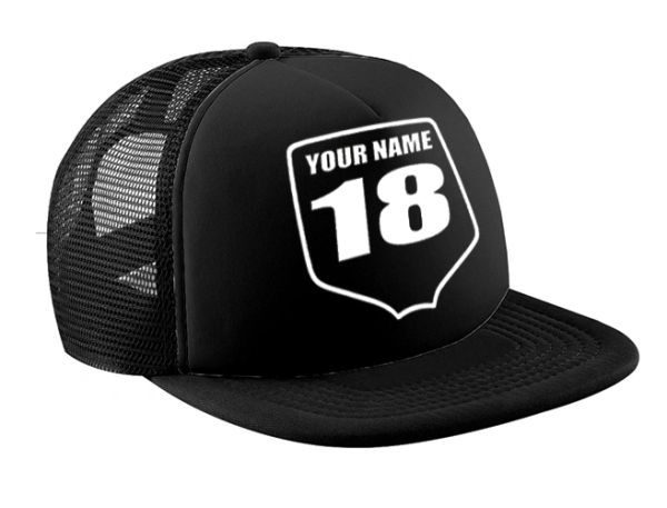 PERSONALIZED MX TRUCKER HAT MINI NUMBER PLATE CUSTOM MX HAT