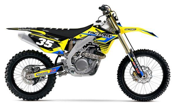 Accelerate Suzuki Semi Custom Factory Backing MX Graphics