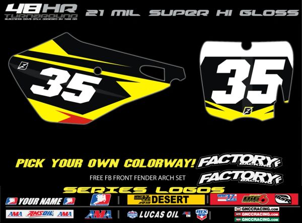 Cobra Factory Backing Pre Printed Backgrounds Accelrate Series with 3 logos