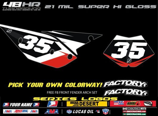 Beta Factory Backing Pre Printed Backgrounds Accelerate Series with 3 airbox logos