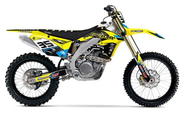 Fast Series Suzuki Semi Custom Factory Backing MX Graphics