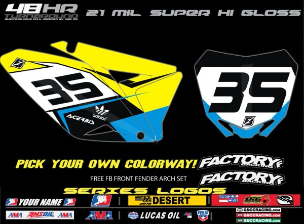 Suzuki Factory Backing Pre Printed Backgrounds Fast Series with Airbox logos