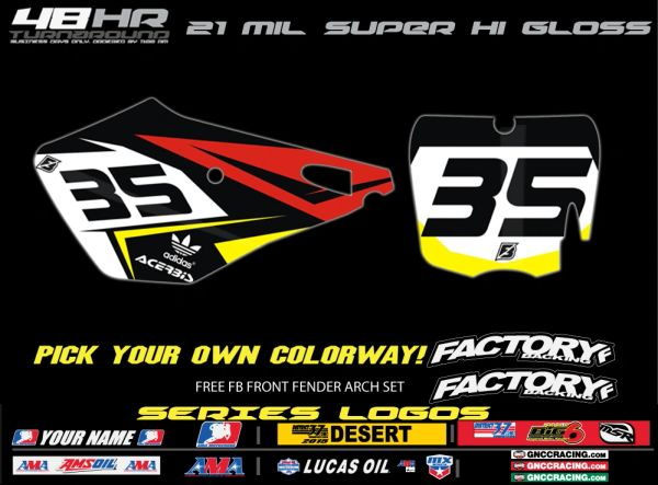 Cobra Factory Backing Pre Printed Backgrounds Fast Series with 3 logos